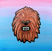 Chewbacca Framed Prints - Chewy Framed Print by Jera Sky