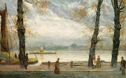 River Walk Paintings - Cheyne Walk by Cecil Gordon Lawson