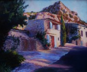Villa Paintings - Chez Isabelle Monieux by Margaret  Plumb