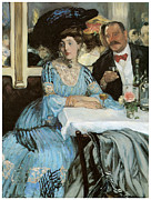 Dinner Paintings - Chez Mouquin by William Glackens