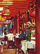 Bistro Paintings - Chez Parisian by David Lloyd Glover