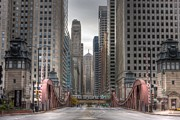 Chicago Board Of Trade Prints - CHI0032 LaSalle Street Chicago Print by Steve Sturgill