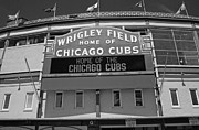 Chicago Black White Posters - CHI0041 Wrigley Field Poster by Steve Sturgill