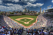 Major Prints - CHI0081 Wrigley Field Chicago  Print by Steve Sturgill