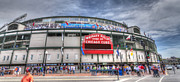 League Framed Prints - CHI0082 Wrigley Field Chicago  Framed Print by Steve Sturgill