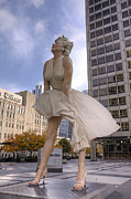 Marilyn Photos - CHI0092 Marilyn Monroe Statue Chicago by Steve Sturgill