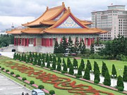 Hall Painting Prints - Chiang Kai Shek Memorial Hall Print by Barbara Sutton