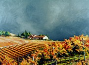 Siena Paintings - Chianti Storm by Michael Swanson