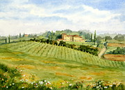 Chianti Tuscany Paintings - Chianti Villa by Vikki Bouffard