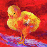 Chickens Paintings - Chic Flic VII by Marion Rose