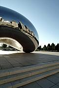 Chicago Framed Prints - Chicago - Cloud Gate Reflection Framed Print by Dmitriy Margolin