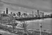 Lake Shore Drive Prints - Chicago - Once Hog Butcher of the World Print by David Bearden