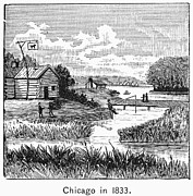 1833 Photo Framed Prints - Chicago, 1833 Framed Print by Granger