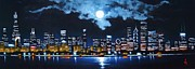 Black Light Art Painting Originals - Chicago 2 by Thomas Kolendra