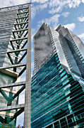 Highrises Art - Chicago - A Sophisticated Finance Hub by Christine Till