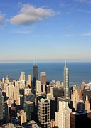 Chicago Aerial View Print by Luiz Felipe Castro
