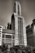 Chicago Skyline Black White Posters - Chicago Architecture - 12 Poster by Ely Arsha