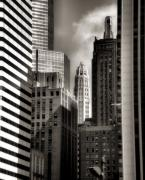 Chicago Skyline Black White Posters - Chicago Architecture - 13 Poster by Ely Arsha