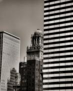 Chicago Skyline Black White Posters - Chicago Architecture - 14 Poster by Ely Arsha