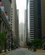 Morning Mist Prints - Chicago Architecture - 17 Print by Ely Arsha