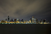 Low Light Framed Prints - Chicago At 4am Framed Print by CJ Schmit