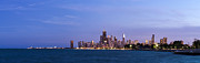 Sky Line Art - Chicago at Dusk by Twenty Two North Photography