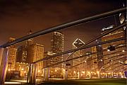 Steel Photos - Chicago at night by Andreas Freund