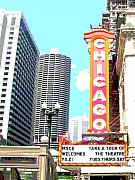 Chicago Digital Art Metal Prints - Chicago Metal Print by Audrey Venute