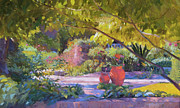 Impressionistic Oil Paintings - Chicago Botanic Garden by Judith Barath