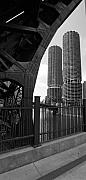 Chicago Art - Chicago Bridge and Buildings by Dmitriy Margolin