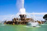 Seahorse Photo Metal Prints - Chicago Buckingham Fountain Metal Print by Paul Velgos