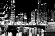 Church Street Framed Prints - Chicago Buildings at State Street Bridge Framed Print by Paul Velgos