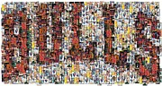 Mj Digital Art Prints - Chicago Bulls Michael Jordan Cards Mosaic Print by Paul Van Scott