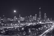 Chicago By Night Print by Steve Gadomski