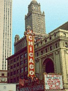 American Metal Prints - Chicago Cinema Metal Print by Peter Art Print Gallery  - Paintings Photos Posters