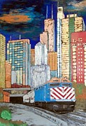 Skyscraper Mixed Media - Chicago City Train by Char Swift
