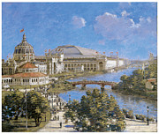 Columbian Exposition Posters - Chicago Columbian Exposition Poster by Theodore Robinson