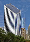 Urban Scenes Photo Metal Prints - Chicago Crain Communications Building - former Smurfit-Stone Metal Print by Christine Till