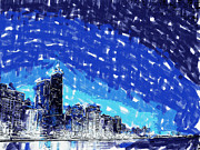Boston Skyline Paintings - Chicago by Dean Wittle