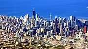 Michigan Prints - Chicago Downtown Print by Luiz Felipe Castro