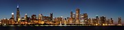 Financial Prints - Chicago Downtown Skyline at Night Print by Semmick Photo