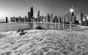 Sky Line Art - Chicago from North Beach by Twenty Two North Gallery