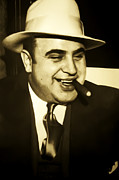 Chicago Digital Art Posters - Chicago Gangster Al Capone Poster by Bill Cannon