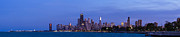 Sky Line Art - Chicago Illinois Panorama by Twenty Two North Gallery