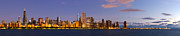 Sky Line Art - Chicago Illinois Skyline at Dawn by Twenty Two North Gallery