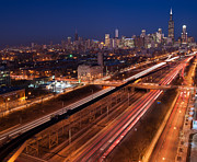 Traffic Art - Chicago Illumina by Steve Gadomski