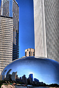 Chicago Posters - Chicago In A Bubble Poster by Emily Stauring