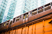Elevated Posters - Chicago L Elevated Train  Poster by Paul Velgos