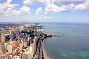 Horizon Over Water Metal Prints - Chicago Lake Metal Print by Luiz Felipe Castro