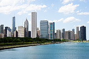 Chicago Prints - Chicago Lakefront Skyline Print by Paul Velgos